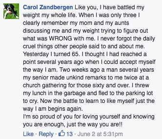 Love What Matters Facebook comments