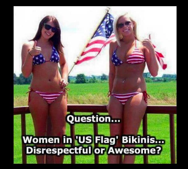 Flag bikini meme.