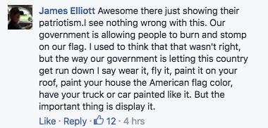 Comments about American flag bikinis.