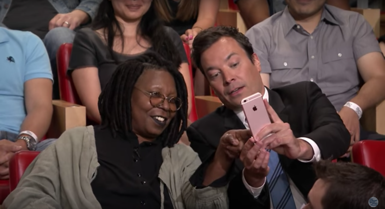 Whoopi Goldberg and Jimmy Goldberg Take a Selfie