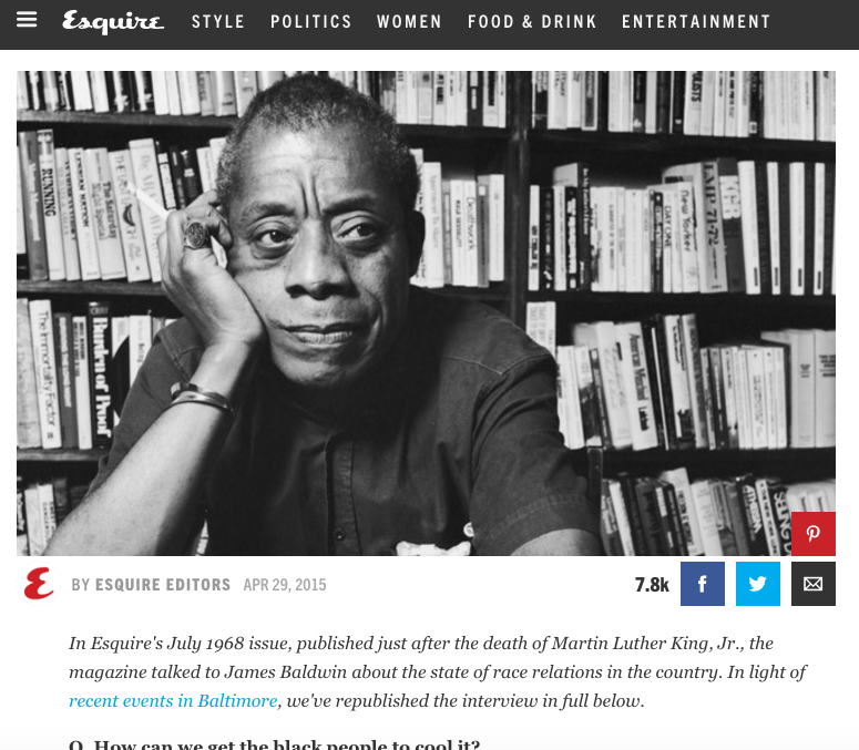 James Baldwin interview from 1968.