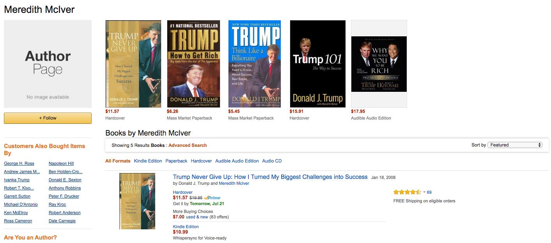 Meredith McIver Amazon page