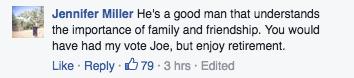 Joe Biden letter comment