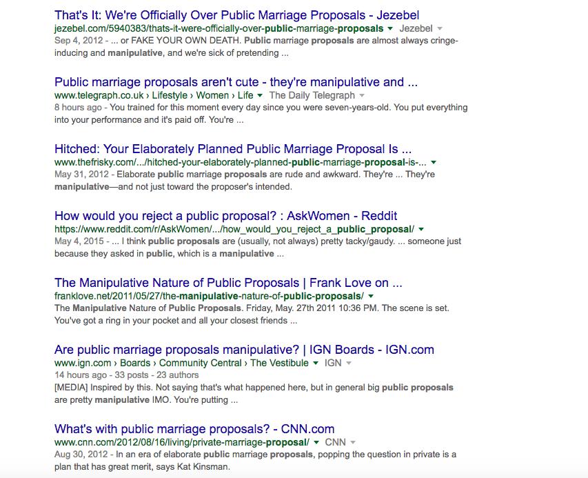 public proposal Google result