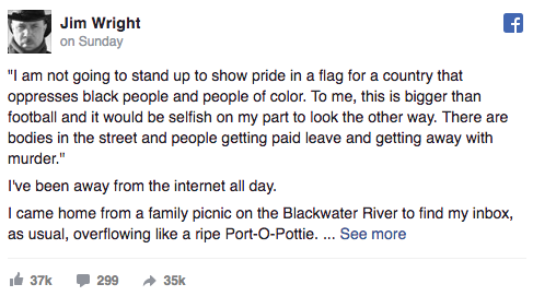 Wright Facebook Post