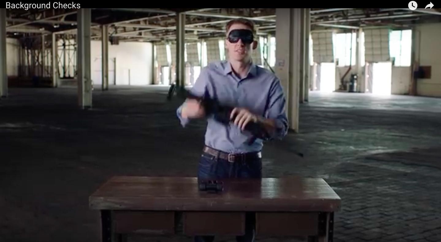Jason Kander campaign ad for gun background checks.