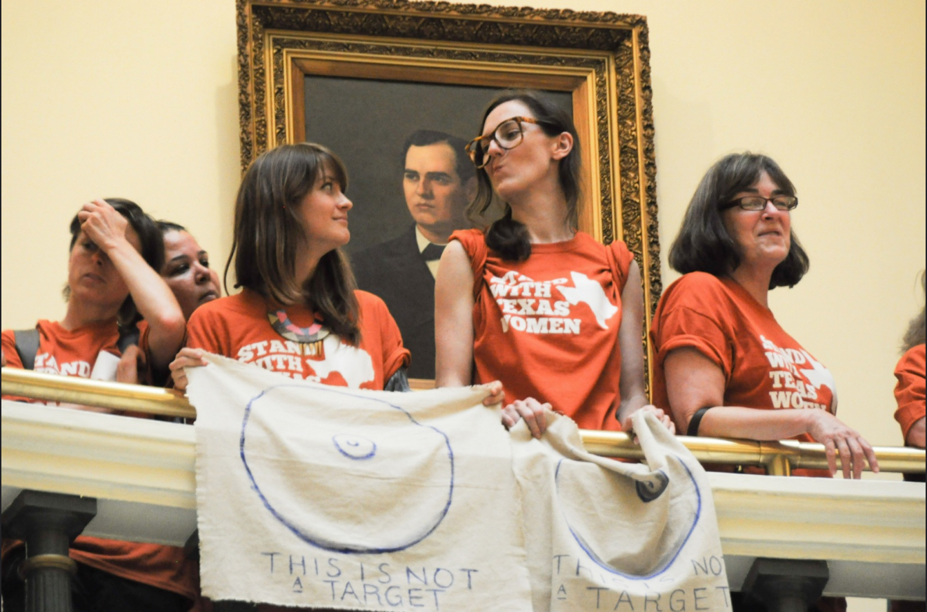 Women protest Texas' HB2
