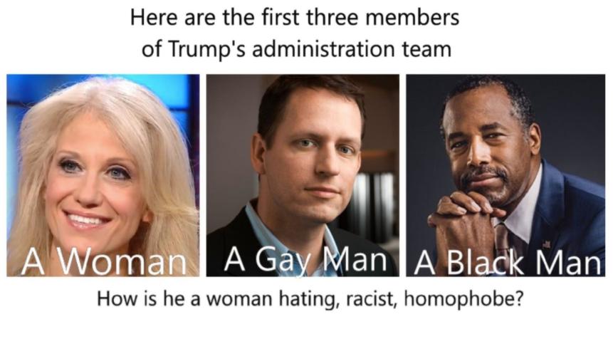 Meme about Trump's potential cabinet picks.