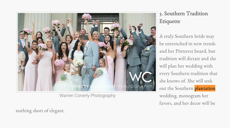 """Top 10 Southern Wedding Trends of 2016."""