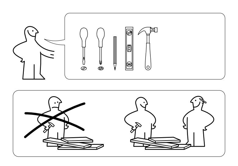 IKEA shelf instructions