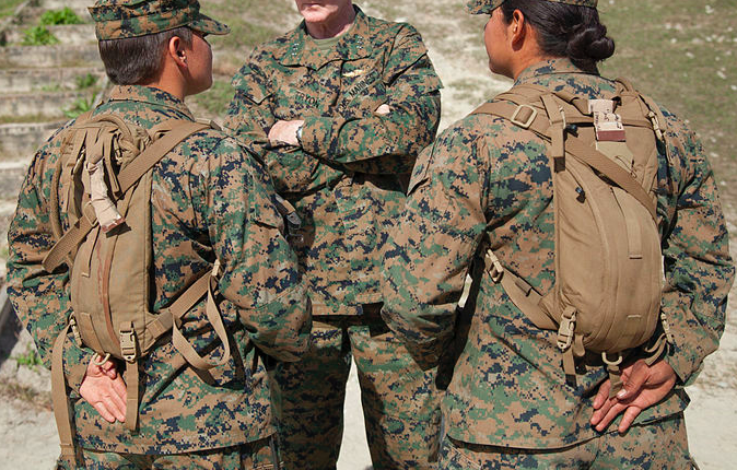Two female Marine students.