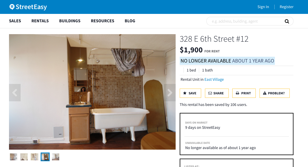 Street Easy New York City Apartment