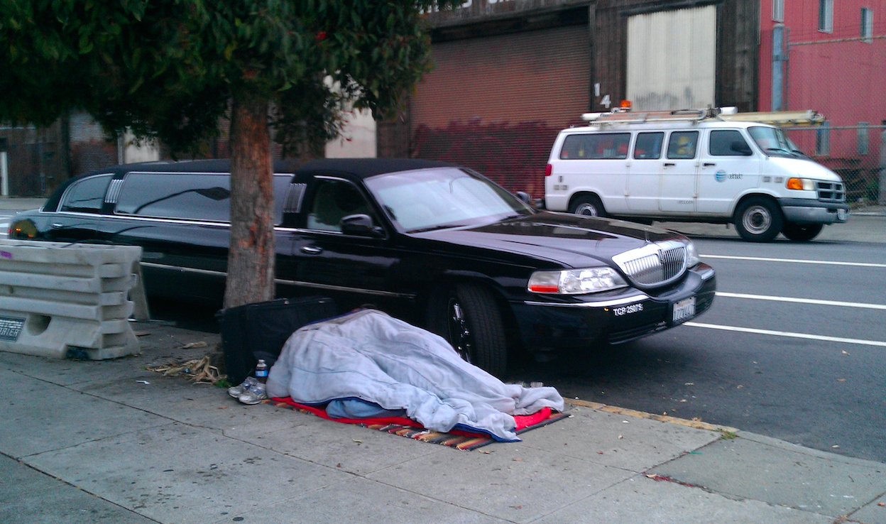 Homeless person in San Francisco