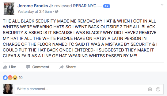 Comments about Rebar NYC.