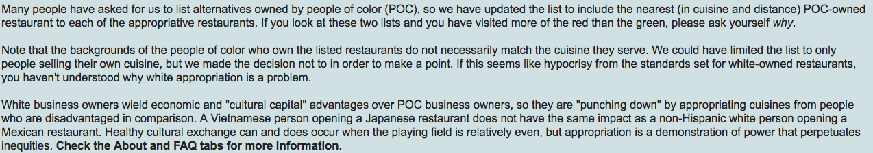 A list of restaurants in Portland accused of cultural appropriation.