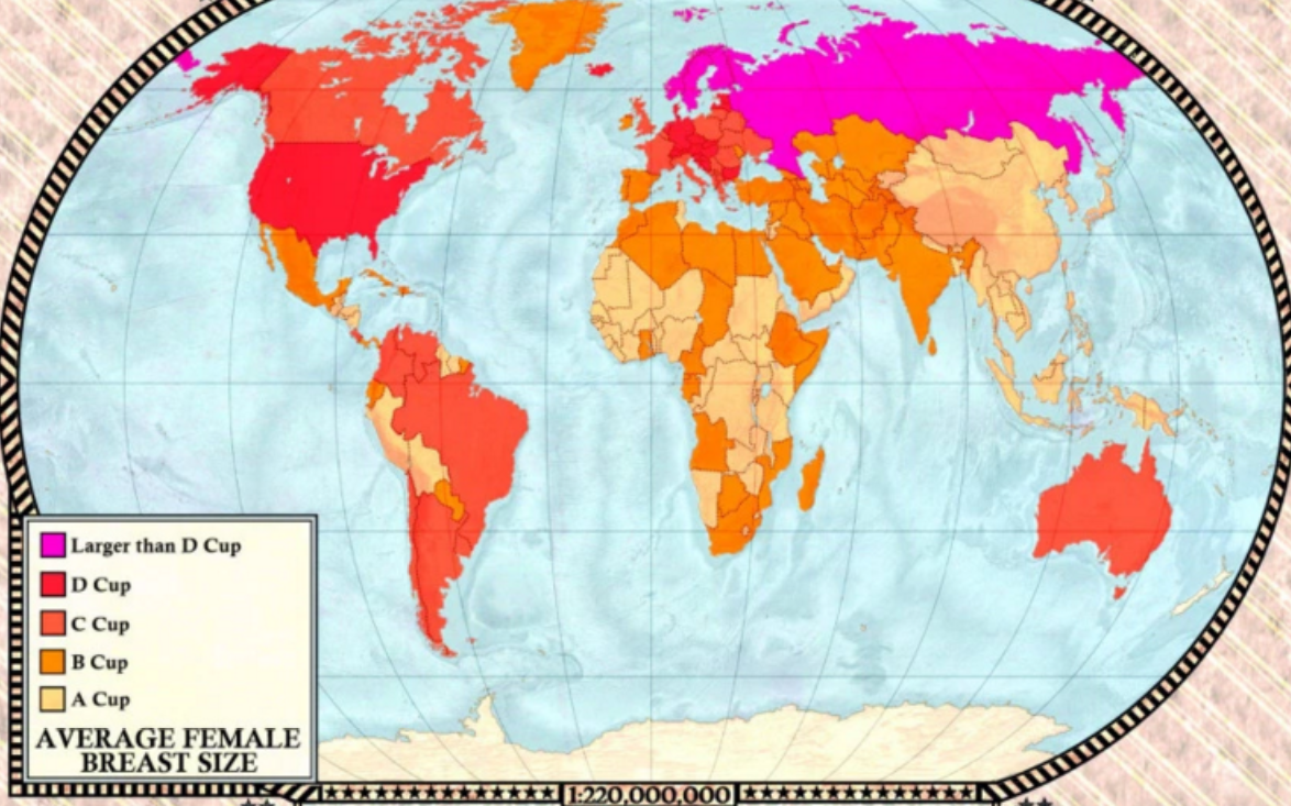 Maps Show Countries With Biggest Boobs and Penises  ATTN
