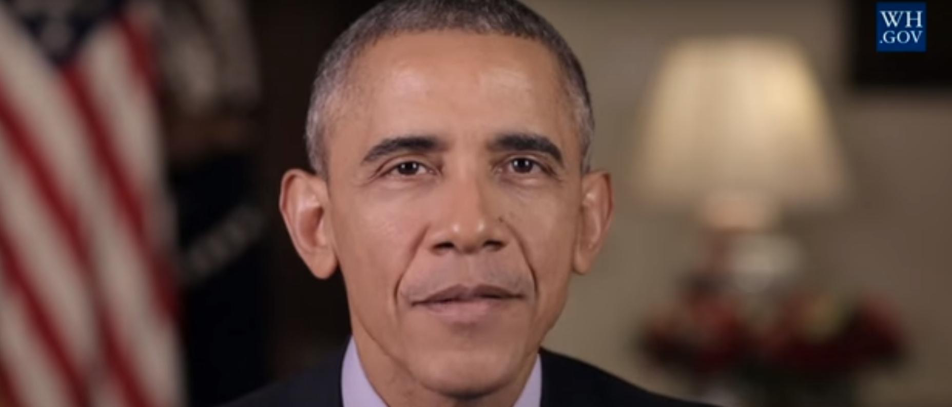 President Barack Obama in White House New Year address 2016