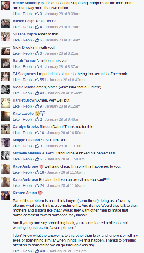 Viral Facebook post comments