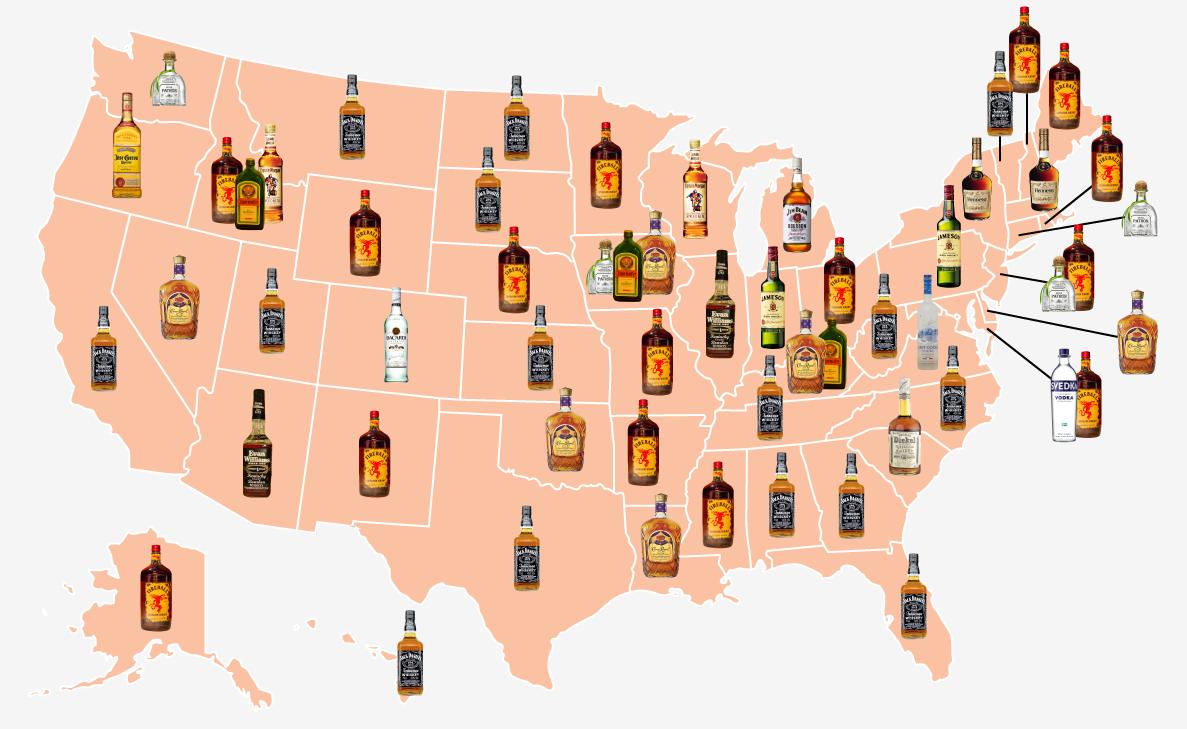 Business Insider alcohol beverage map