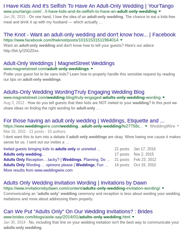 People Are Divided On No Kids Weddings Attn