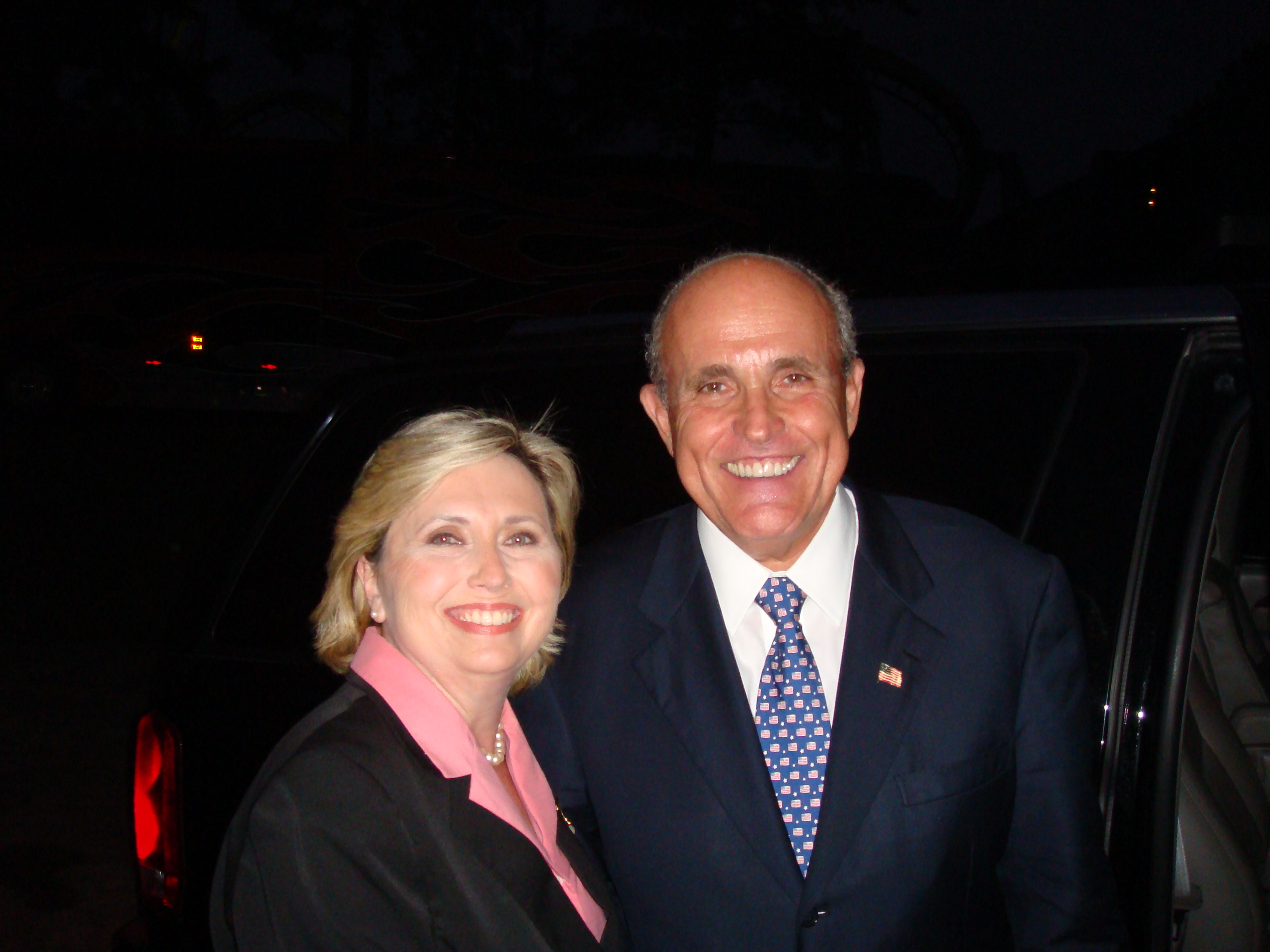 Teresa Barnwell with Former Mayor of New York City Rudy Giuliani