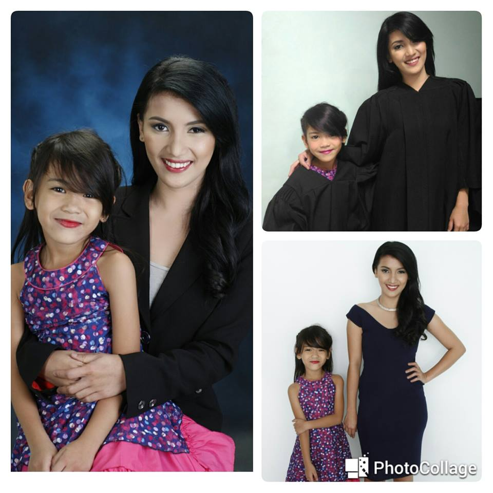 college graduate Vin-zl Vicente and daughter