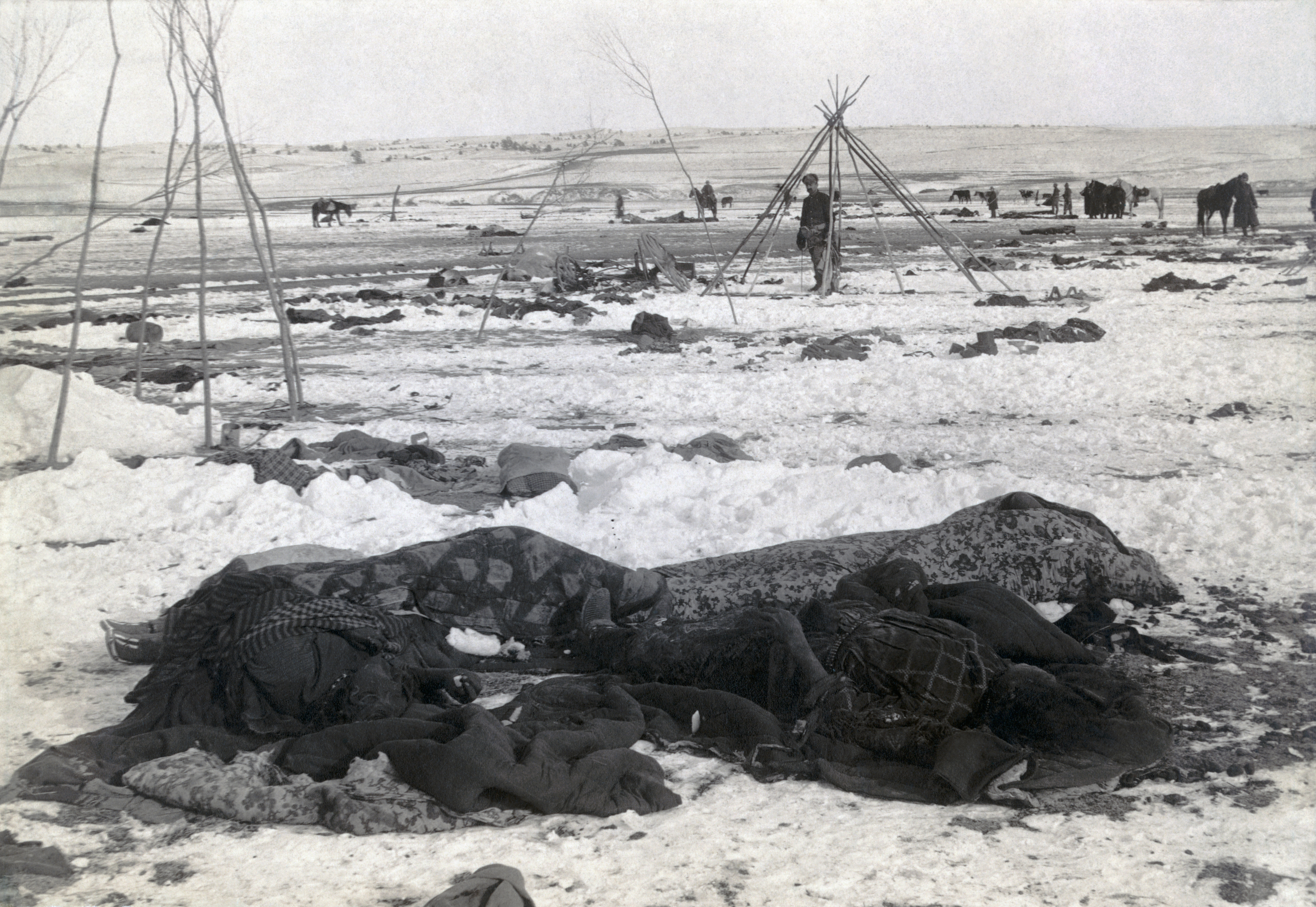 Wounded Knee aftermath.