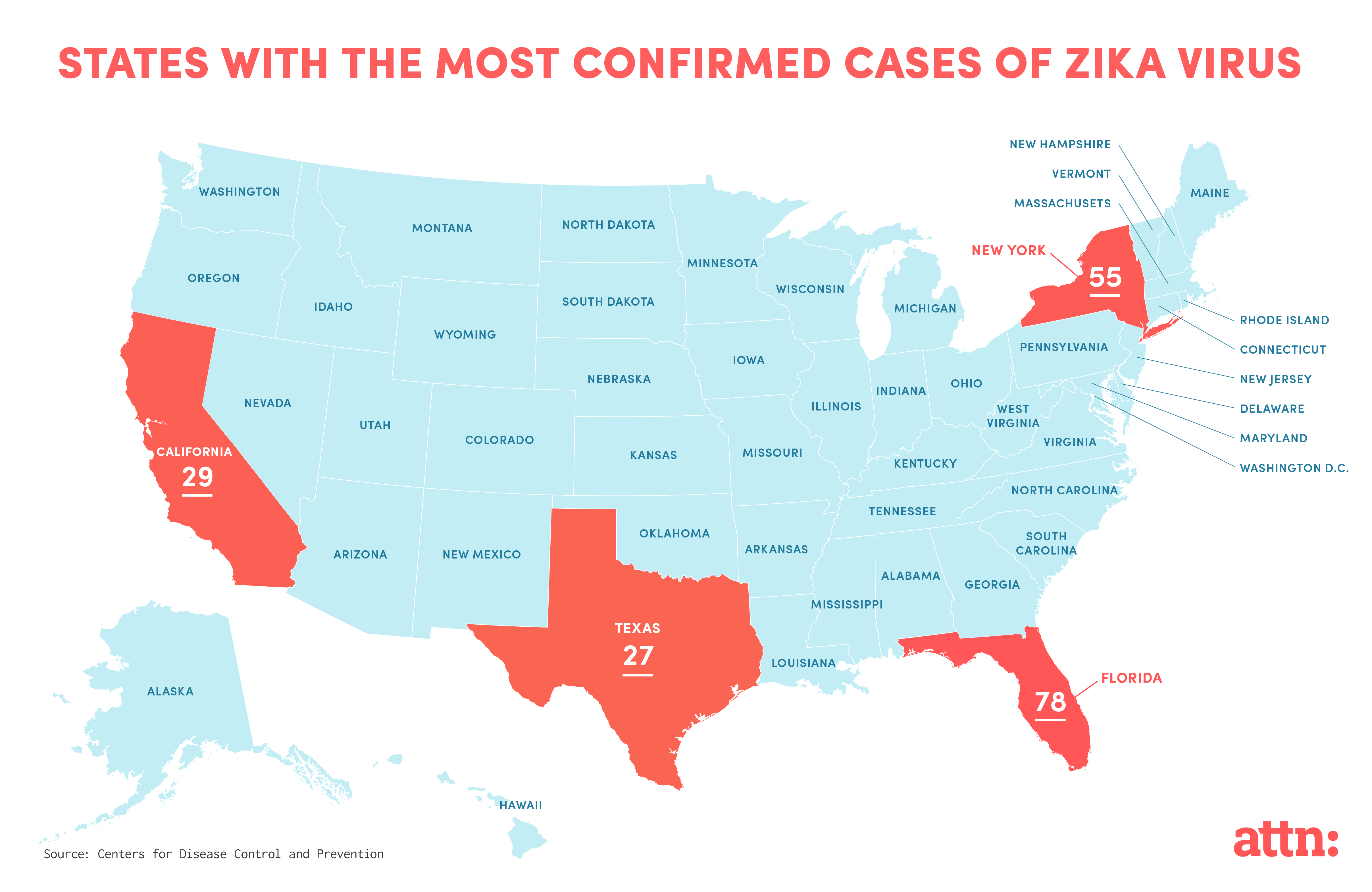 Four States Most At Risk For Zika Virus ATTN - Zika virus map us