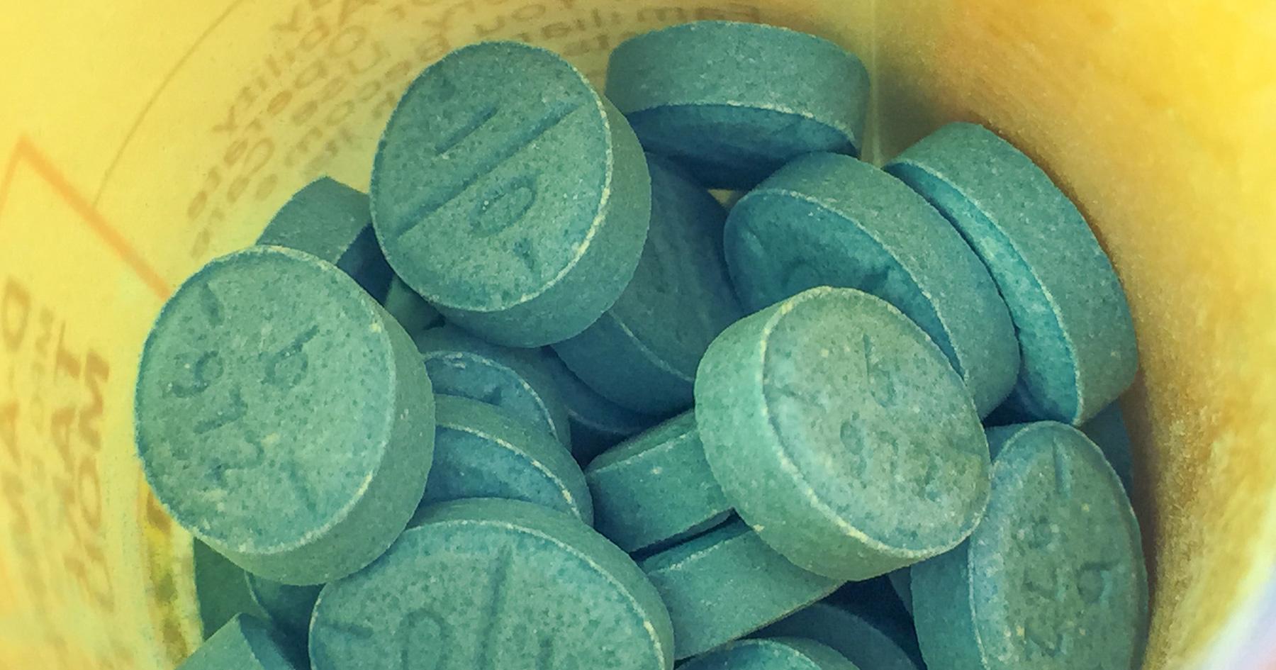 Bottle of Adderall pills