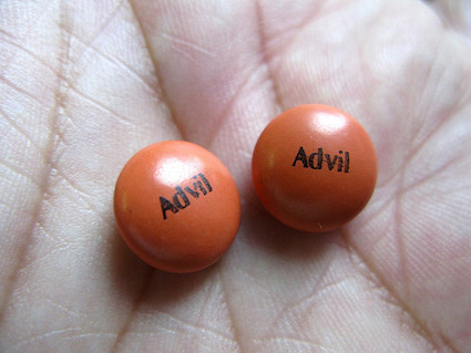 Two Advil tablets.