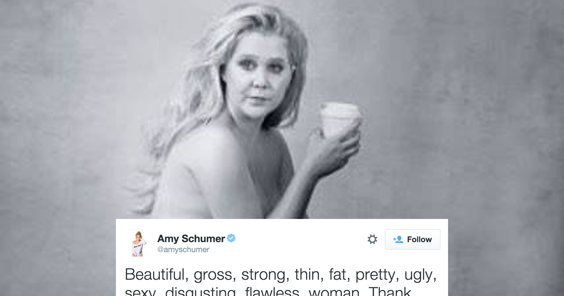 Amy Schumer Poses Nearly Nude for Annie Leibovitz Photo