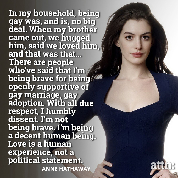 Anne Hathaway Talk LGBT Rights