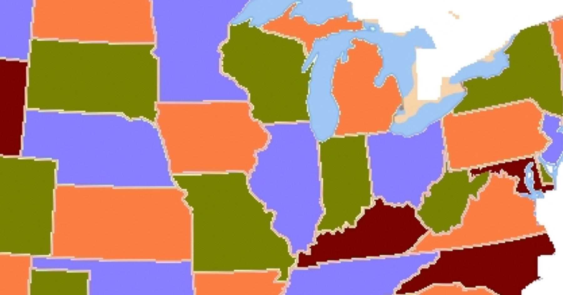 Here Are The States That Drain The Most Of Our Natural Resources - Map of united states states only