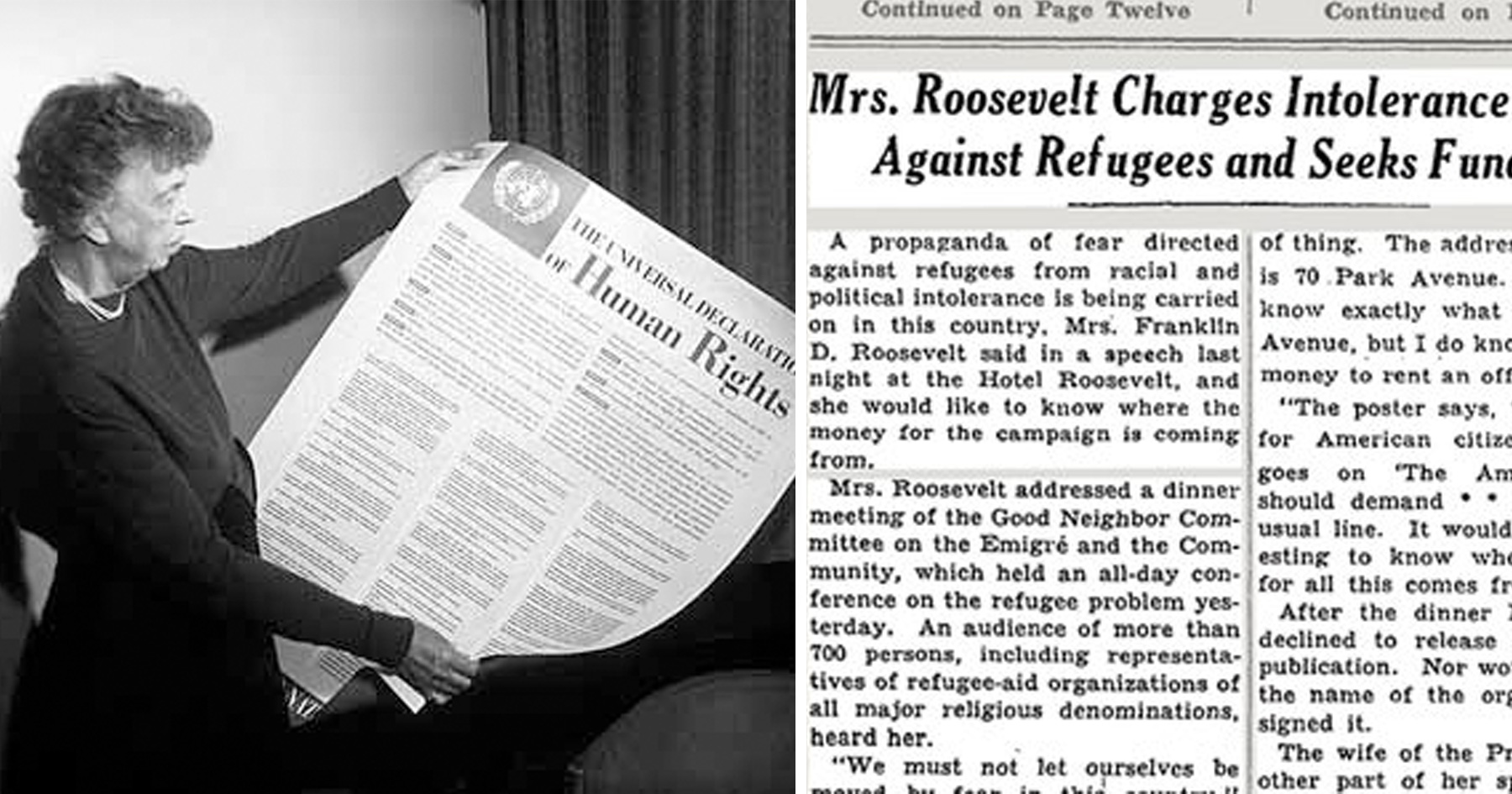 Eleanor Roosevelts Refugee Remarks Are Still Relevant Attn