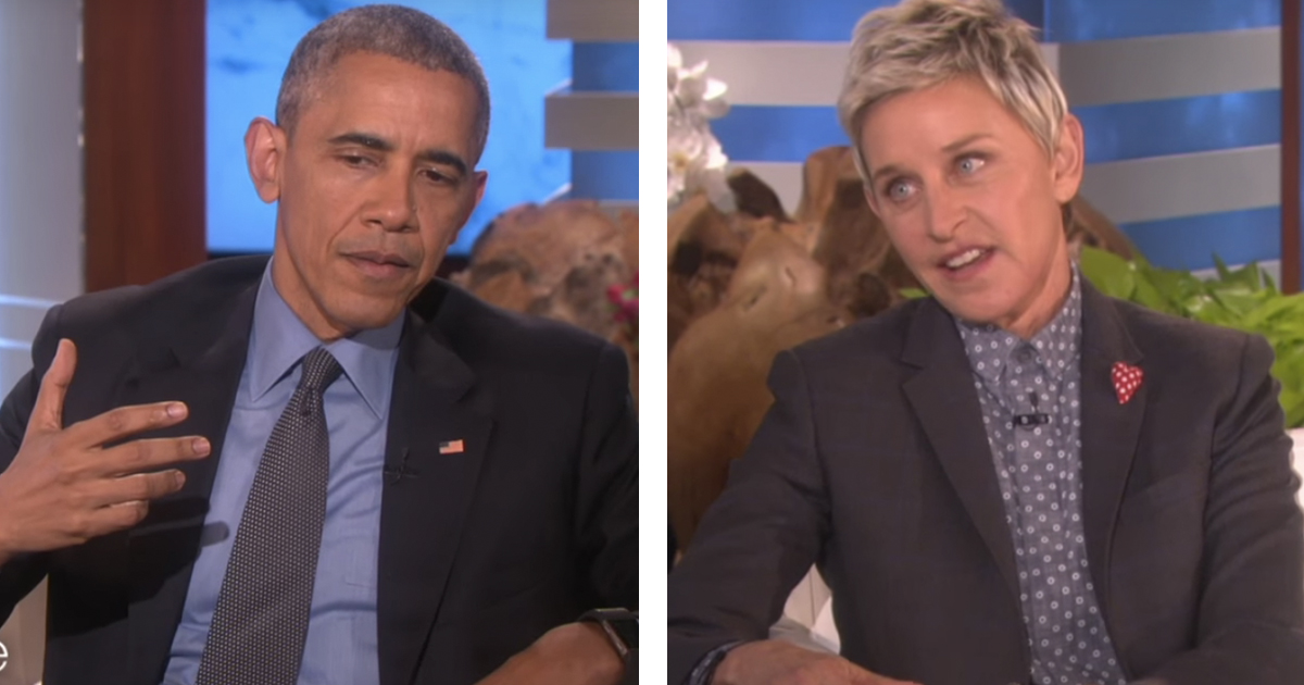 President Obama Had the Best Response When Ellen Tried to Thank Him for Gay Rights