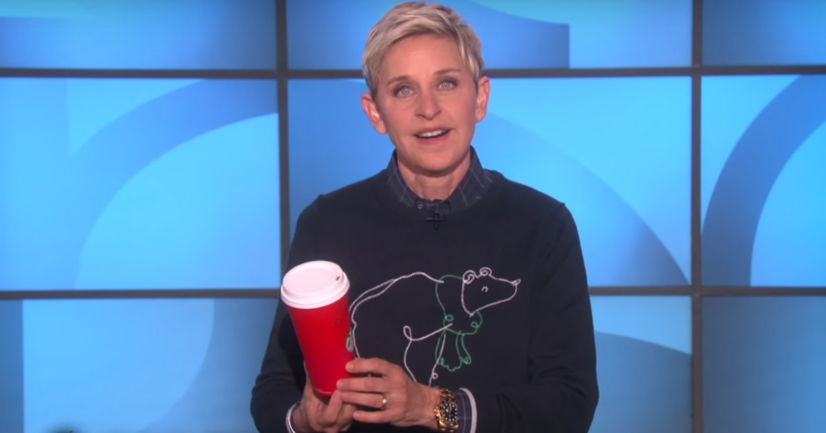Here's What Ellen Just Said to Angry Starbucks Customers