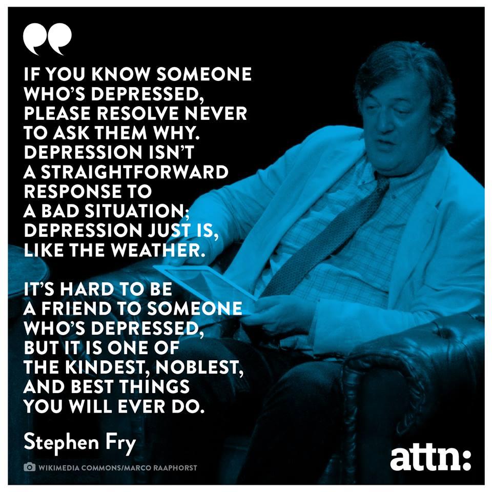 Stephen Fry depression
