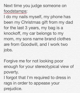 Going On Food Stamps Stigma