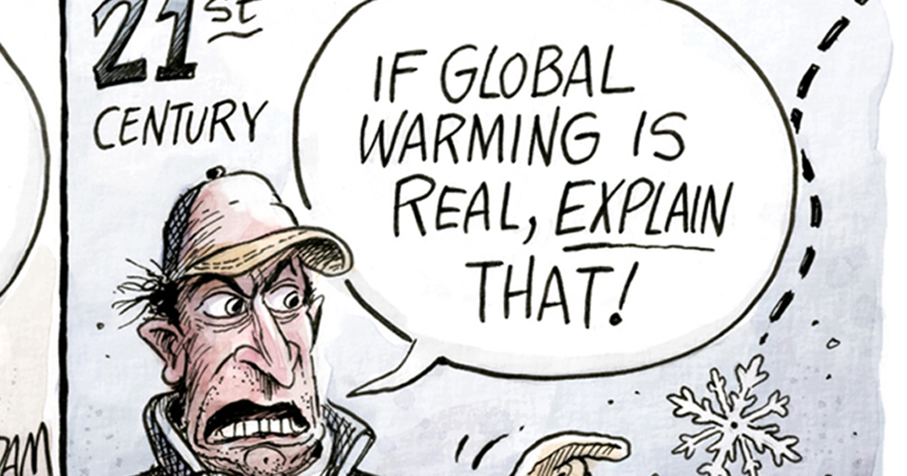 Matchless message, comic strip about global warming message