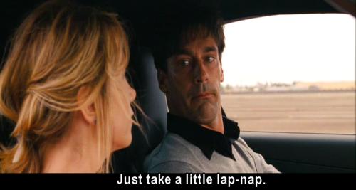 """Lap nap scene in """"Bridesmaids"""""""