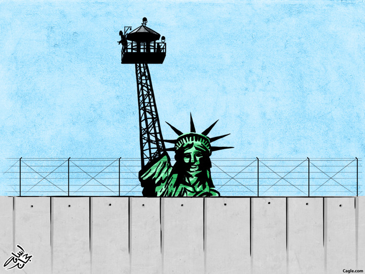 Osama Hajjaj Trump Cartoon