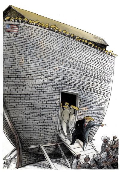 Angel Boligan Trump Cartoon