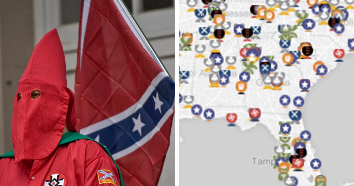 Heres How Big The KKK Is In ATTN - Kkk map us