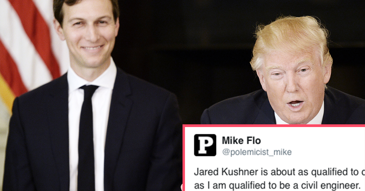 Trump Just Created a New Job for His Son-In-Law and People Are Very Worried