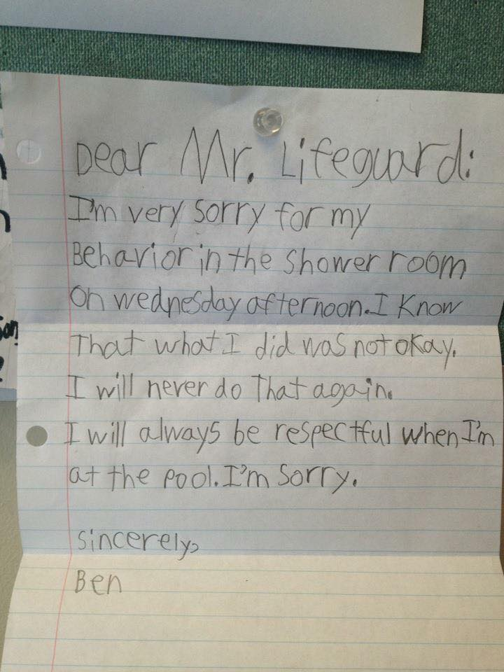 Letter to a lifeguard