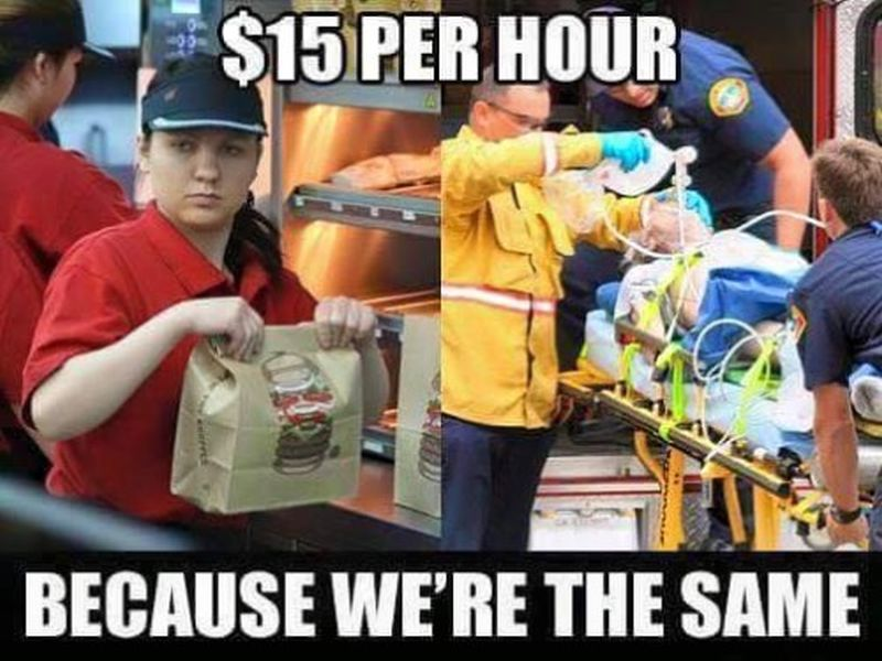 Minimum Wage Paramedic Meme