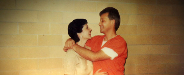 Oscar Ray and Rosalie Bolin embracing. The two met during his trial for murder and married in 1996 after his conviction. They remained married until Bolin was executed by the State of Florida in January.