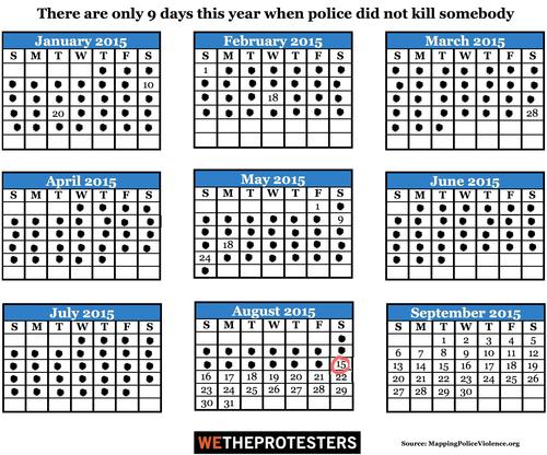 Campaign Zero calendar