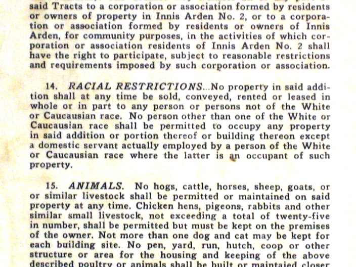 Seattle Area Racial Covenant