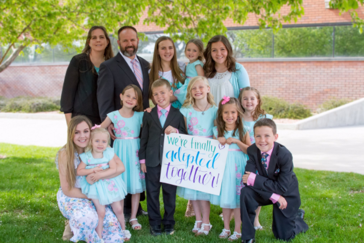 Sowards family adopts four children into their home